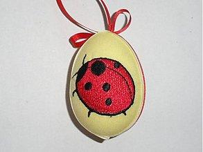 Dekorácie - Veľkonočné vajíčko lienka - 1295446