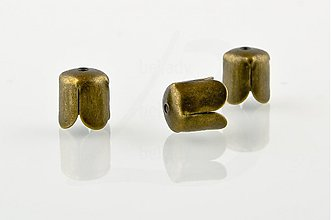Komponenty - KAP700, KAPLÍK Tulipán 8mm BRONZOVÝ /10ks - 1299016