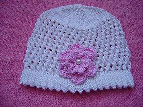 Detské čiapky - Pletené čiapky - 1299480
