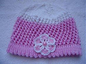 Detské čiapky - Pletená čiapka - 1299485