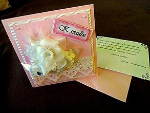 Papiernictvo - Pohľadnička pre ružovú nevestičku - 1299512