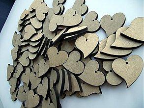 Materiál ručne robený - srdiečka na svadobnú výzdobu - 1305904