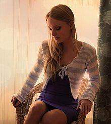 Topy - Modrý pásikavý svetrík - 1306163
