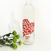 Darčeky pre svadobčanov - svadobné víno srdiečkové - 1306553
