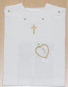 Detské oblečenie - košielka na krst-vyšívná - 1307954