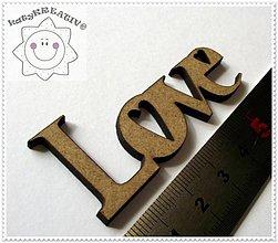 Tabuľky - Love 6cm - 1308462