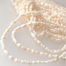 Minerály - Perly sladkovodné prevŕtané (biele / ryža) - 1309173