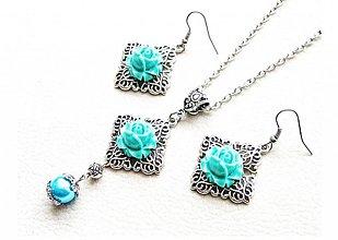 Sady šperkov - zelené ruže - 1309370
