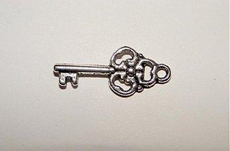 Komponenty - KPrív-kľúčik-1ks (9x22mm-platina) - 1313367