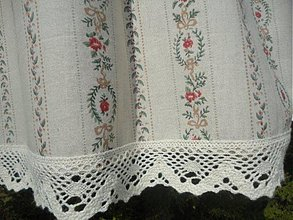 Úžitkový textil - Chalupkarska zaclonka - 1314685