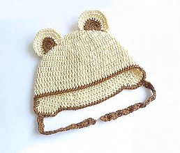 Detské čiapky - Medvedíková čiapočka - 1314784