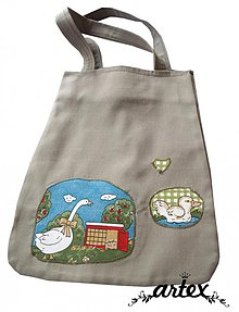 Nákupné tašky - Sliepka a húska - ekologická nákupna taška - 1323828