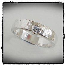 Prstene - ANO - strieborna obrucka so zirkonom - 1325637