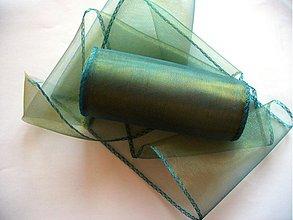 Galantéria - organzová stuha 15cm zelenozlatá - 1326746