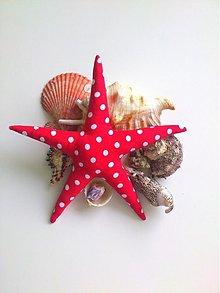 Dekorácie - morská hviezda červená - 1327649