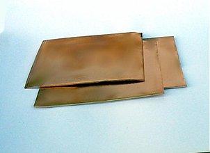 Suroviny - plech medený 1mm, 10x 10 cm - 1329337