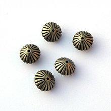 Korálky - 1727-1026 Plastové pokovované koráliky 15x10 mm, 2 ks - 1330807