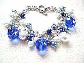 Náramky - modrá žiara - 1335561