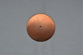 Materiál ručne robený - Medený kruh na smaltovanie, tepanie, daľšie spracovanie - 1338576