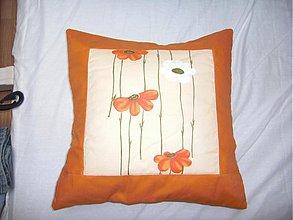Úžitkový textil - Vankúš lúka s kvetmi - 133974