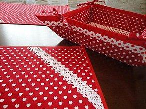 Úžitkový textil - Srdieckový setik - pre dvoch - - 1344902