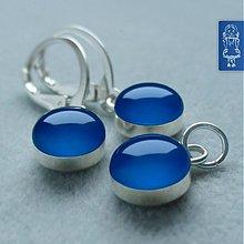 Sady šperkov - ELECTRIC BLUE - stříbro - 1345211