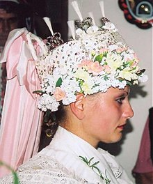 Ozdoby do vlasov - Parta - svadobný veniec - 1351189