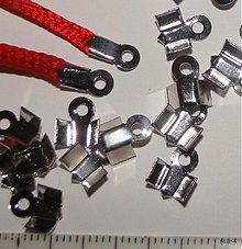 Komponenty - Koncovka 4x9mm-20ks (platina) - 1360909