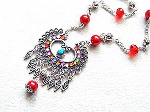 Náhrdelníky - červená kráľovná - 1365183