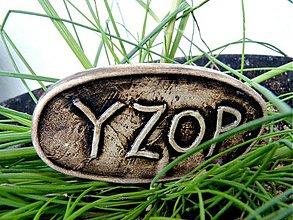 Dekorácie - Keramický zápich Yzop - posledné ks - 1365730