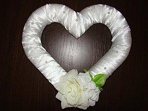 Dekorácie - svadobné srdce - 1366404