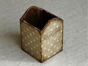 Krabičky - Patinovaná krabička na ceruzky - 1367384