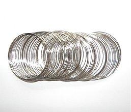 Suroviny - 0084 Pamäťový drôt náramkový, priemer 60 mm, 10 otočiek - 136747