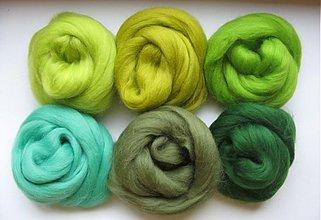 Textil - Merino vlna -   zelená s mentolom 60 g - 1371136