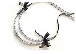 Náhrdelníky - sivé perly - 1372280