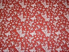 Textil - 100%-BAVLNA-červená - 1372517