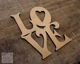 Tabuľky - LOVE....10cm - 1377271