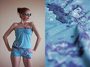 Iné oblečenie - Zeleno-modrá pastelka - 1377374