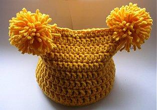 Detské čiapky - detská čiapka - slniečková - 1378288