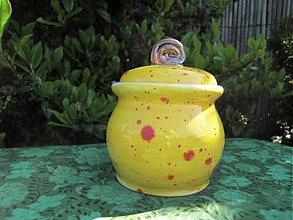 Nádoby - Cukornička žltá - 1378999