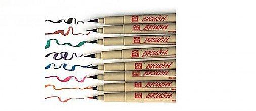 Pomôcky/Nástroje - Pigma brush - rôzne farby - 1380935