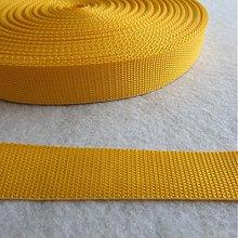 Galantéria - Popruh POP 30 mm žltý - 1380983