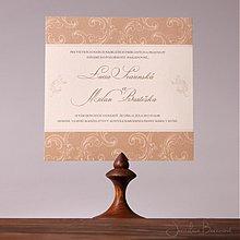 Papiernictvo - Svadobné oznámenie Barock - 1381946
