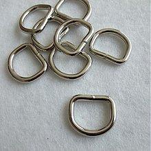 Galantéria - Polokrúžok kovový 20 mm nikel - 1384337