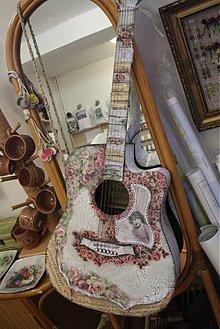 Dekorácie - Gitara- ART decoupage - 1389450
