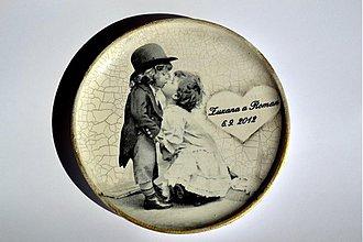 Prstene - Svadobný tanierik pod obrúčky - 1396383