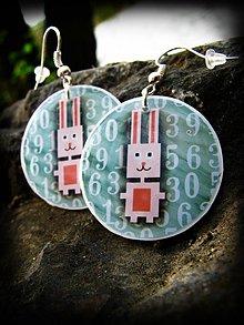 Náušnice - Kyber zajac v kyberpriestore - 1400033
