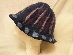 Čiapky - modrý plstený klobúk - 1400293