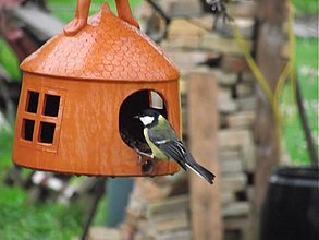 Dekorácie - Domček pre hladné vtáčence - 1406394
