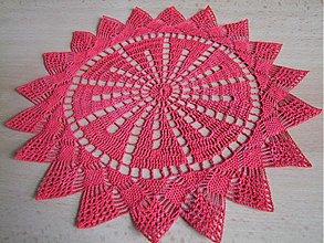 Úžitkový textil - Háčkovaný obrúsok - 1408137